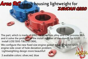 Area CNC alloy clutch housing mount for Zenoah G320 engine baja Losi 1/5 rc car