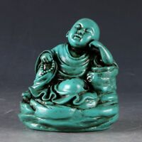 Decorate Collect OLD Resin HAND CARVED SLEEPING BUDDHA STATUE YT25
