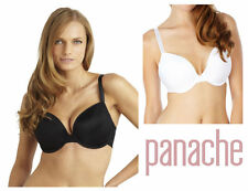 Panache Porcelain Underwired MOULDED Plunge Bra 3371 Black Various Sizes 32 F