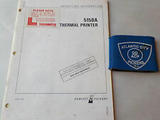 HEWLETT PACKARD 5150A THERMAL PRINTER OPERATING INFORMATION MANUAL