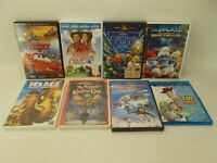 Lot of 8 Kids & Family DVD Movies:  Ice Age, Cars, Toy Story, Christmas Carol