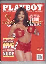 Playboy November 1999 Mia St. John Cover Cara Wakelin Playmate + MORE