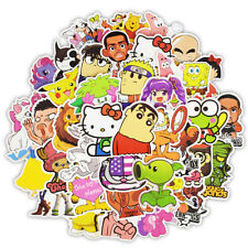 50Pcs Cartoon Graffiti Stickers Skateboard Laptop Car Luggage Wall Art Decal