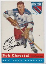 1954 TOPPS BOB CHRYSTAL NEW YORK RANGERS CARD #2 VG/EX CONDITION