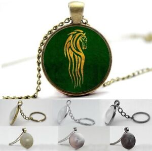The Lord of the Rings Rohan Symbol - Photo Glass Dome Necklace, Pendant, Keyring