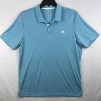 Adidas Climalite Mens Golf Polo Shirt Size L Blue