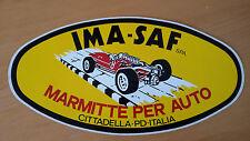 Adesivo Sticker IMA - SAF  MARMITTE PER AUTO  cm 25 x 12,5 circa