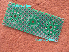 Universal prototyping PCB for Tube Circuit Tube Amplifier 7pin 8pin 9pin Socket