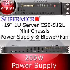 Supermicro 1HE 1U Gehäuse / Case SC512-200B + Netzteil, Blower-Fan