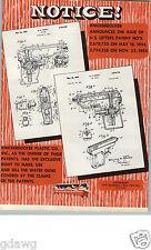 1956 PAPER AD Knickerbocker Toy Sub Machine Cap Gun Die Cast Patent Drawing