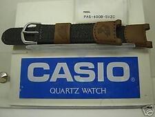 Casio watch band Pas-400B Patfinder Brown Leather Gray Nylon Original Strap