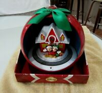 """Disney 8"""" Christmas Mickey and Minnie Train Scene Rotating Musical Light Project"""