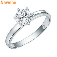 Newshe Wedding Band Engagement Ring For Women 925 Sterling Silver Round Cz Sz 9