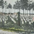 Virginia Arlington National Cemetery Civil War Grave Stone Litho Stereoview B274