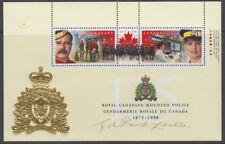Canada #1737c 46¢ RCMP 125th Anniversary Signed Souvenir Sheet MNH