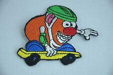 MR POTATO HEAD SKATEBOARD  Embroidered Sew Iron On Cloth Patch Badge APPLIQUE