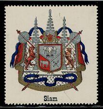 Old Thailand Siam Stamp National State Emblem Kingdom of Siam Symbol MNG