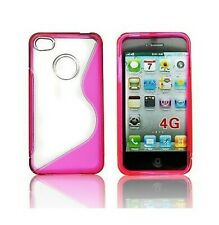 Housse Silicone Coque Etui IPHONE 4 4S Rose Design Pink
