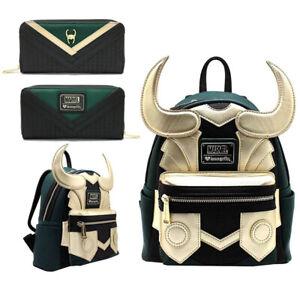 Marvel Avengers Loungefly Loki Faux Leather Mini Backpack Purse Bags Purse
