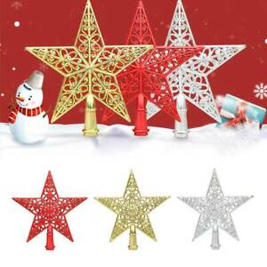 Christmas Tree Topper Decoration Ornaments Hollowed out Xmas Tree Topper Star