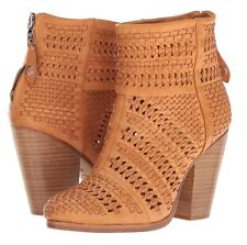 $595 new RAG & BONE 38.5/8.5 NEWBURY Booties Ankle Woven Leather BOOTS SOLD OUT