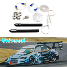 1PAIR Racing Black Hood Bonnet Pin Kit Aluminium For All Cars Lock