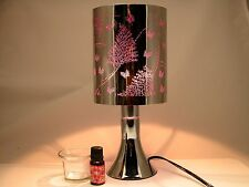 Fragrance *Stainless Steel Table Touch Lamp Leaf-Butterfly (Purple) Silver color