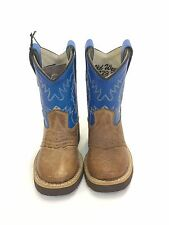 Infants Old West Boots Brown w/Blue Tops, Style 17291