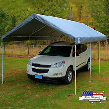 20'X10' Carport Replacement Canopy Tent Garage Tarp Roof Cover Shelter Ball Ties