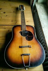 Alte Vintage Egmond 60s 12 String Gitarre Leadbelly Blues Sound So Cool So Mojo!