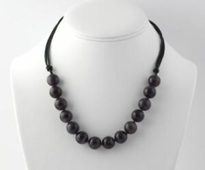 """NEW Beaded Amethyst Necklace 20"""" - Sterling Silver Clasp Women's"""
