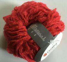 Gedifra Antiga #3101 Red Looped-Lash Mohair Wool Acrylic Blend Yarn 50gr 43yds