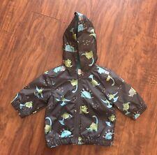 Gymboree Baby Boy Dino Rain Jacket Gray Size 0-3 Months NWT
