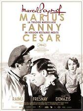 Affiche 120x160cm LA TRILOGIE MARSEILLAISE, PAGNOL Marius Fanny Cesar R2015 NEUV