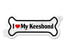 I Love My Keeshond Dog Bone Bumper Sticker Decal Db 226