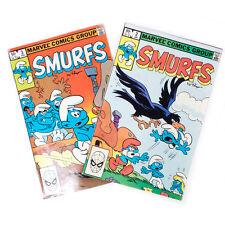 Lot of 2 Vintage 1982 SMURFS Marvel's Comics Group Books