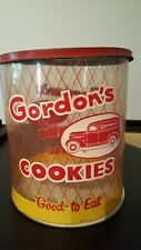 "Gordon's Cookies ""Good to Eat"" Plastic Show Box Display Metal Lid & Base RARE"