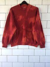 Unisex Urban Vintage Retro Dip Dye Festival De Lavado ácido Sudadera Suéter XL #4