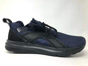 Puma Mens Enzo Woven 19088401 Peacoat Black Athletic Running Shoes Size 10