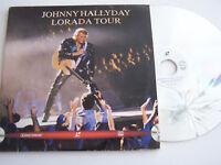 LASERDISC PAL , JOHNNY HALLYDAY 2 DISQUES , LORADA TOUR . TRES BON ETAT . 1995 .