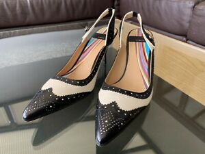 Brand New Paul Smith Bracer Nero Off White Stefanil Shoes Size UK3 EU36