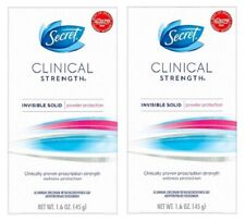 Secret Clinical Strength Invisible Solid Powder Protection 2 Pack