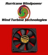 12 Volt DC Square Cooling Fan 105 CFM Solar Panel PV Projects Car Audio 5 Inch