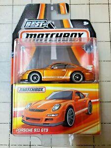 Matchbox Best Of Matchbox Porsche 911 GT3 Orange Ruber tires