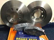 VAUXHALL CORSA C 1.0 1.2 00-06 240mm VENTED FRONT BRAKE DISCS & PADS SET NEW
