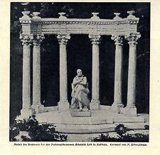 Denkmalsentwurf von N. Pfretzschner Friedrich List in Kufstein Bilddokument 1906