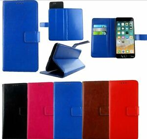 Slim Leather Mobile Phone Wallet Book Case Cover For All Archos Phones