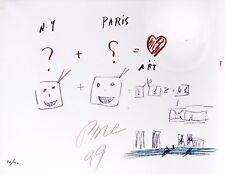"""Nam June Paik """"NY + Paris = Art"""""""