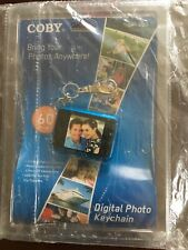 """Coby Digital Photo Keychain DP151 Holds 60 Color Display 1.5"""" BLUE, New Sealed"""
