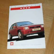 V5269 May 1984 Vauxhall NOVA SWING Special Edition BROCHURE 5//84